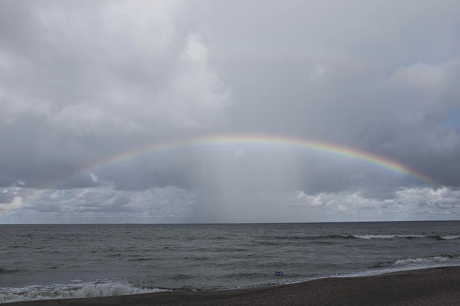Vaivorykštė Giruliuose.  Rainbow at Giruliai beach.