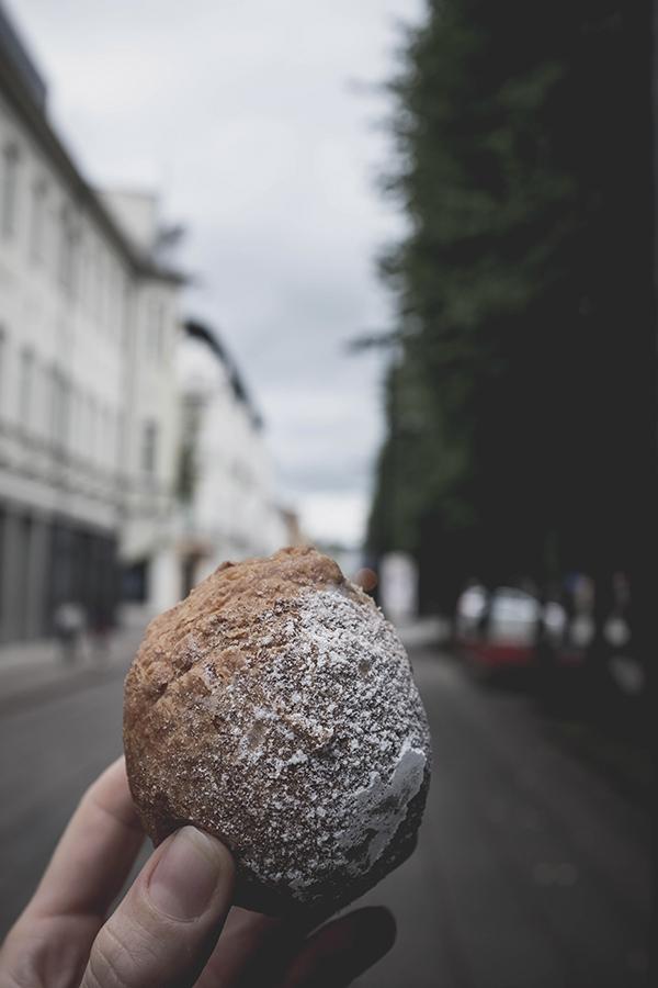 Mano mėgstamiausia varškės spurga. Spurgine. Kaunas.  My favorite cottage cheese doughnut. Spurgine. Kaunas.