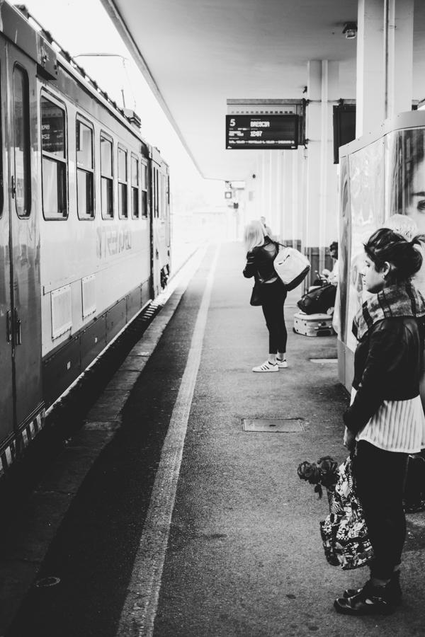 Bergamo traukinių stotis.  Bergamo railway station.