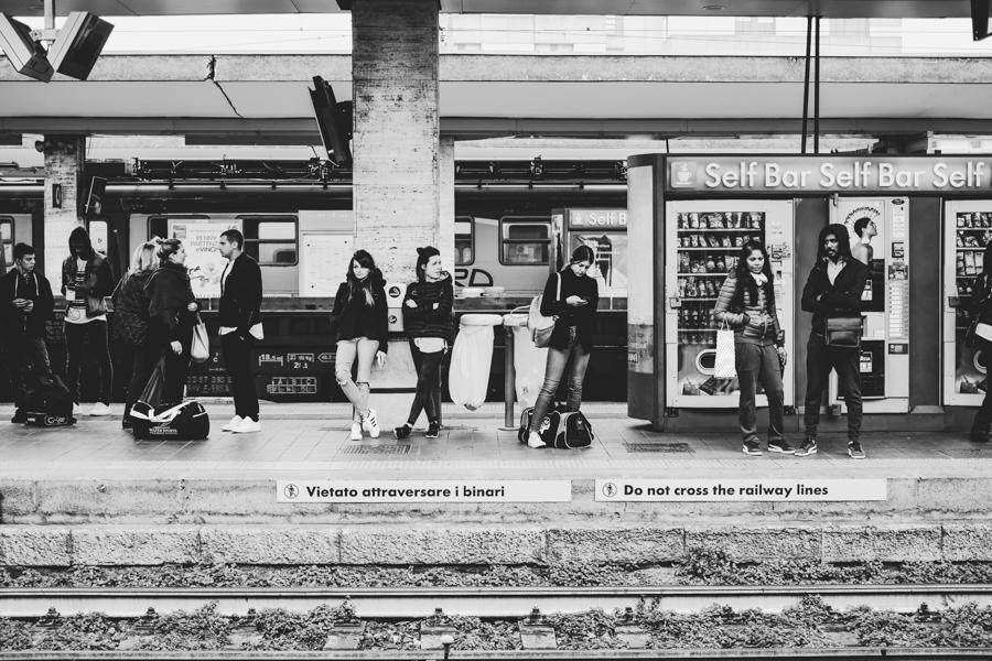 Brescia traukinių stotis.  Brescia railway station.