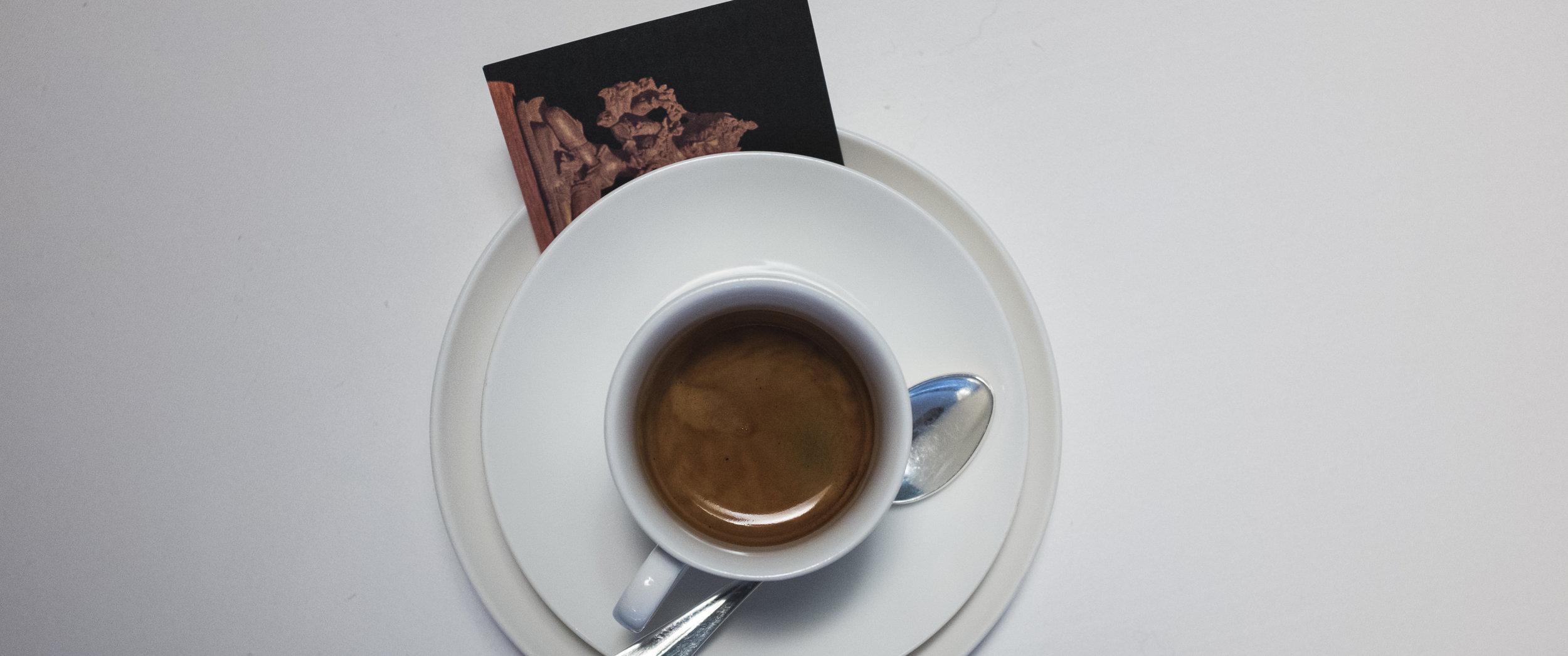 Casual. Espresso time.