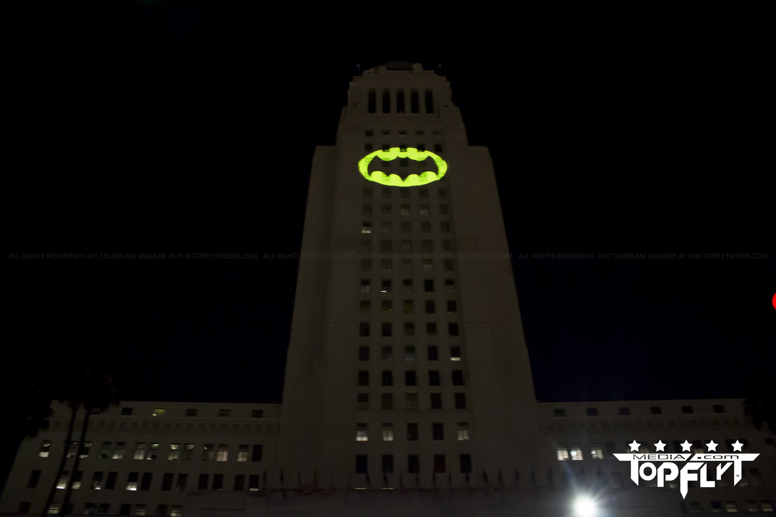 Batman Light Los Angeles City Hall Adam West