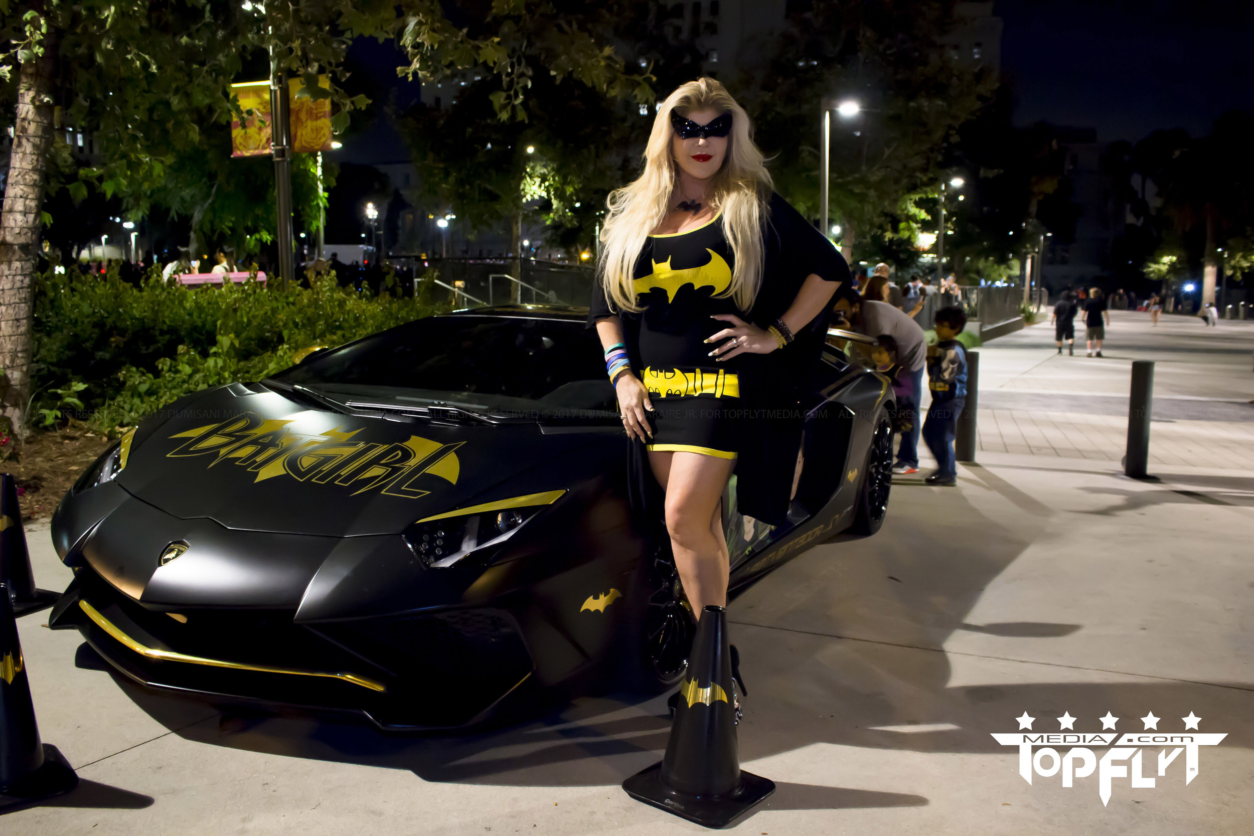 Batman Light Los Angeles City Hall Adam West Bat Girl Batventador