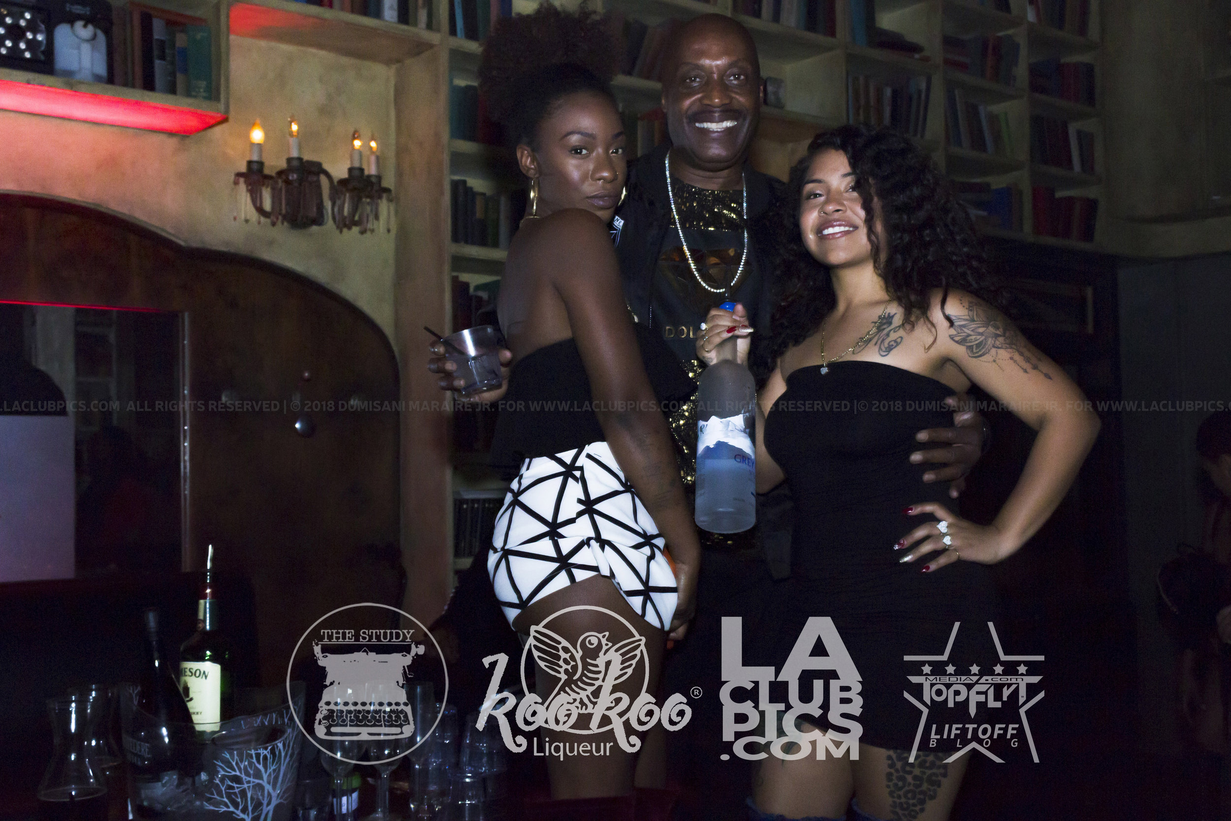 VIP Host Freeway Rich with some of the lovely ladies at The Study.