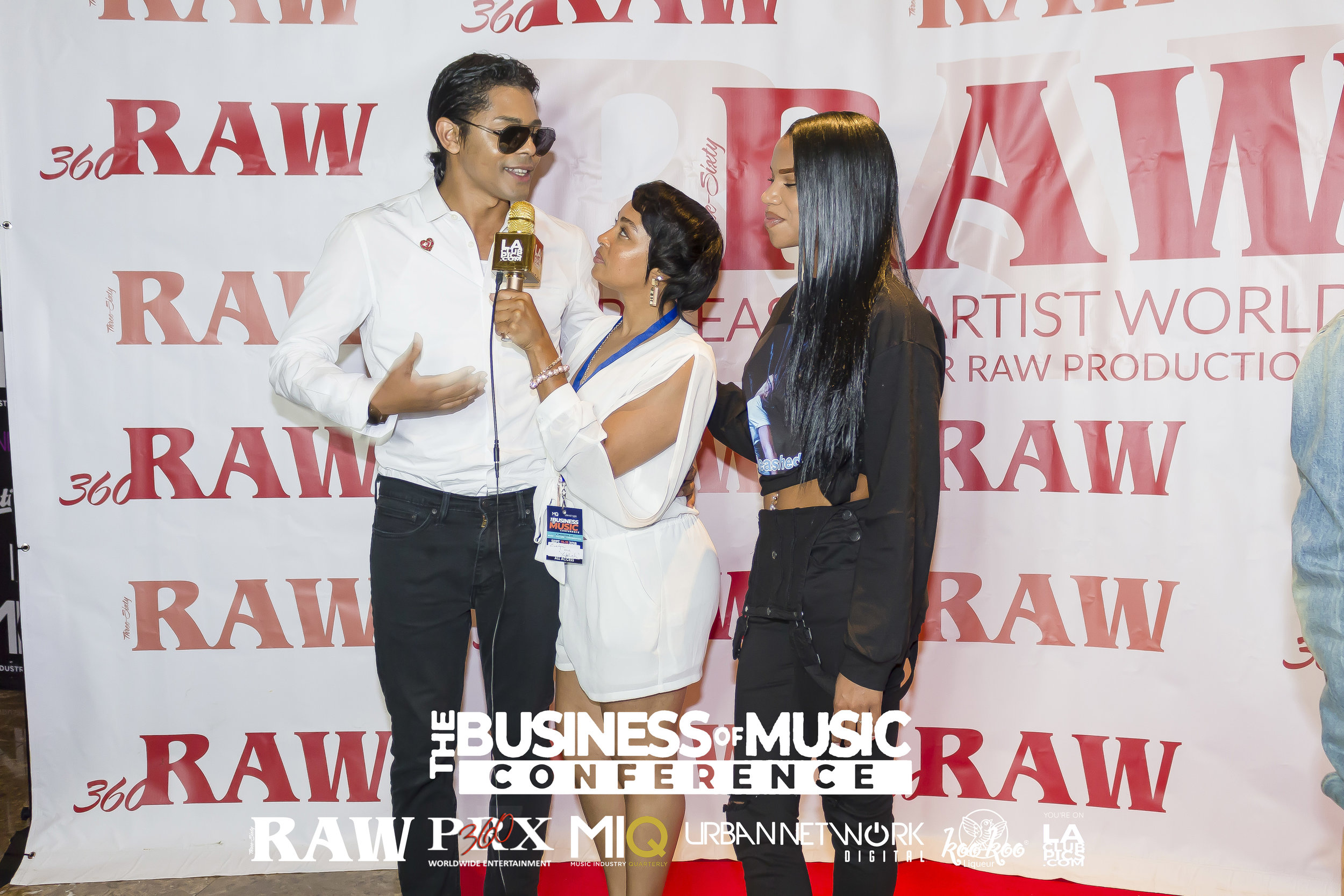 We do interviews! - Don't have a host for your red carpet? Leave the interviews to us! We have a package that includes a professional red carpet host who can interview your event's guests on your behalf. We can also re-brand our popular gold mic with your brand or even your main sponsor's logo!