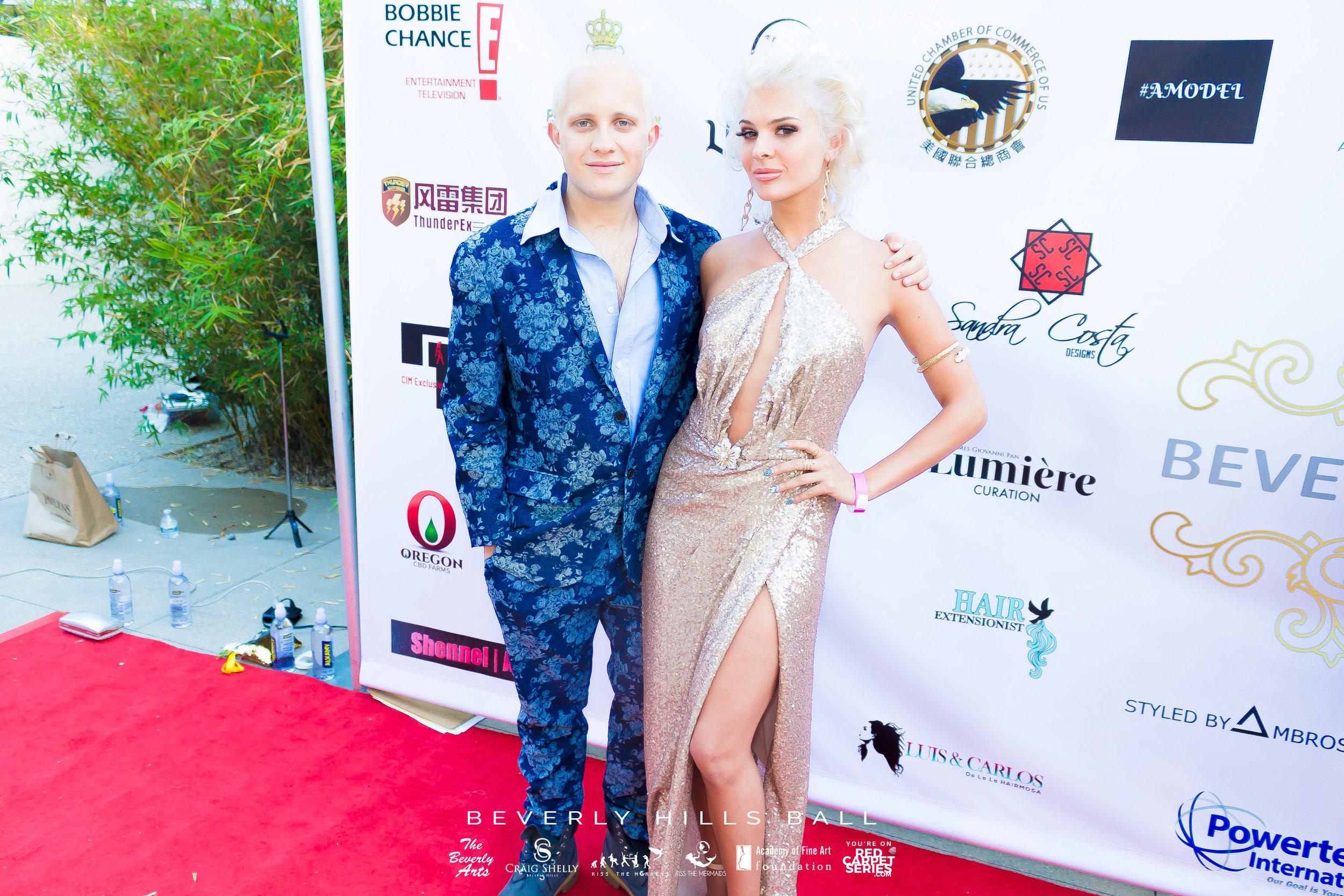 Super Model Ava Capra @ The Kiss The Monkeys Beverly Hills Ball