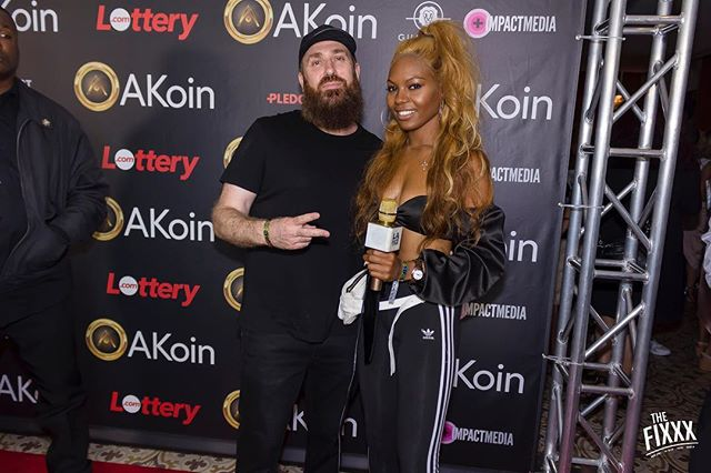 Who could it be? It's @vladtv!! On the red carpet at @akon's @akoinofficial launch! #akoin #akon #vladtv #redcarpetseries with our amazing client @thefixradio