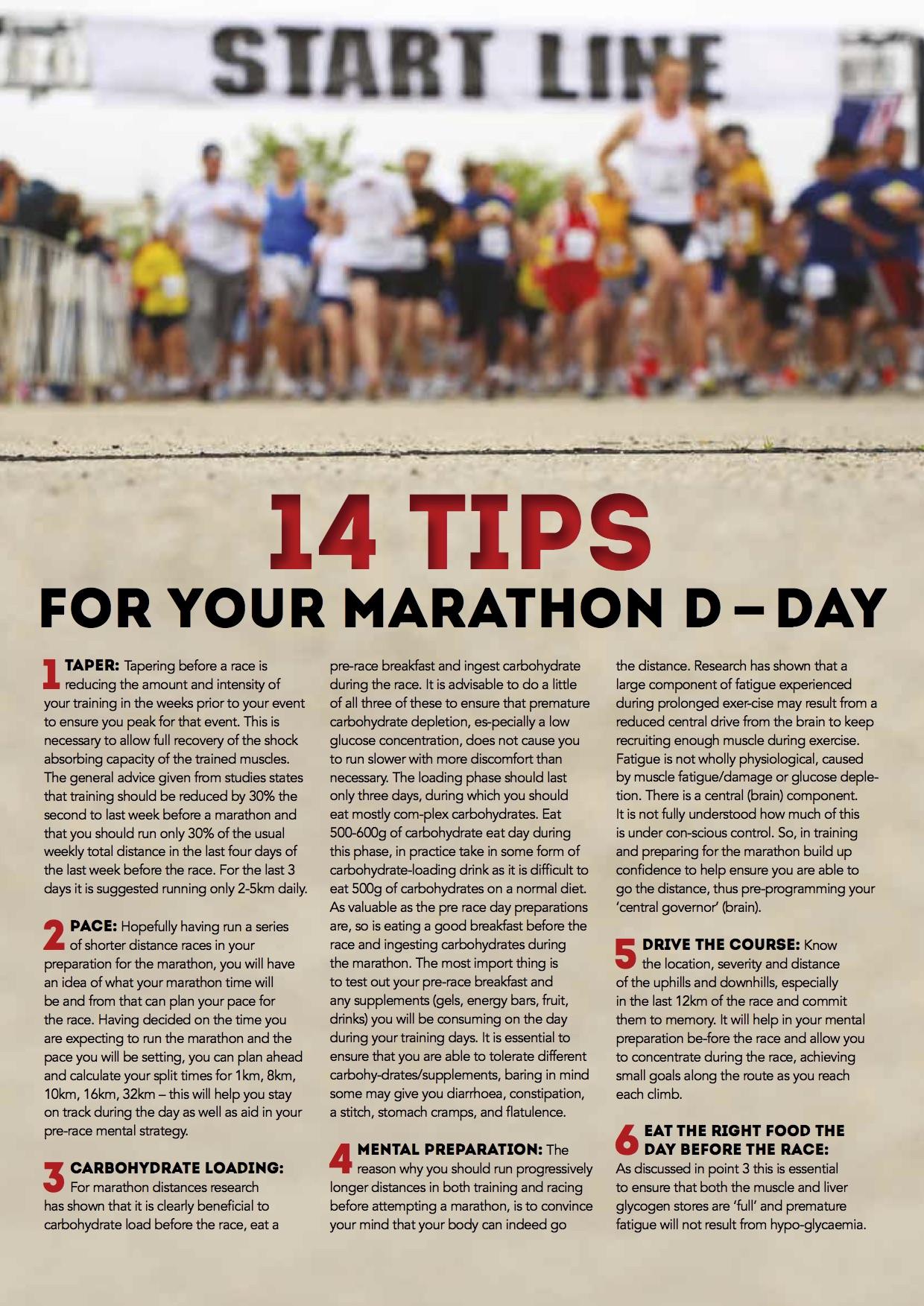 marathon tips 1