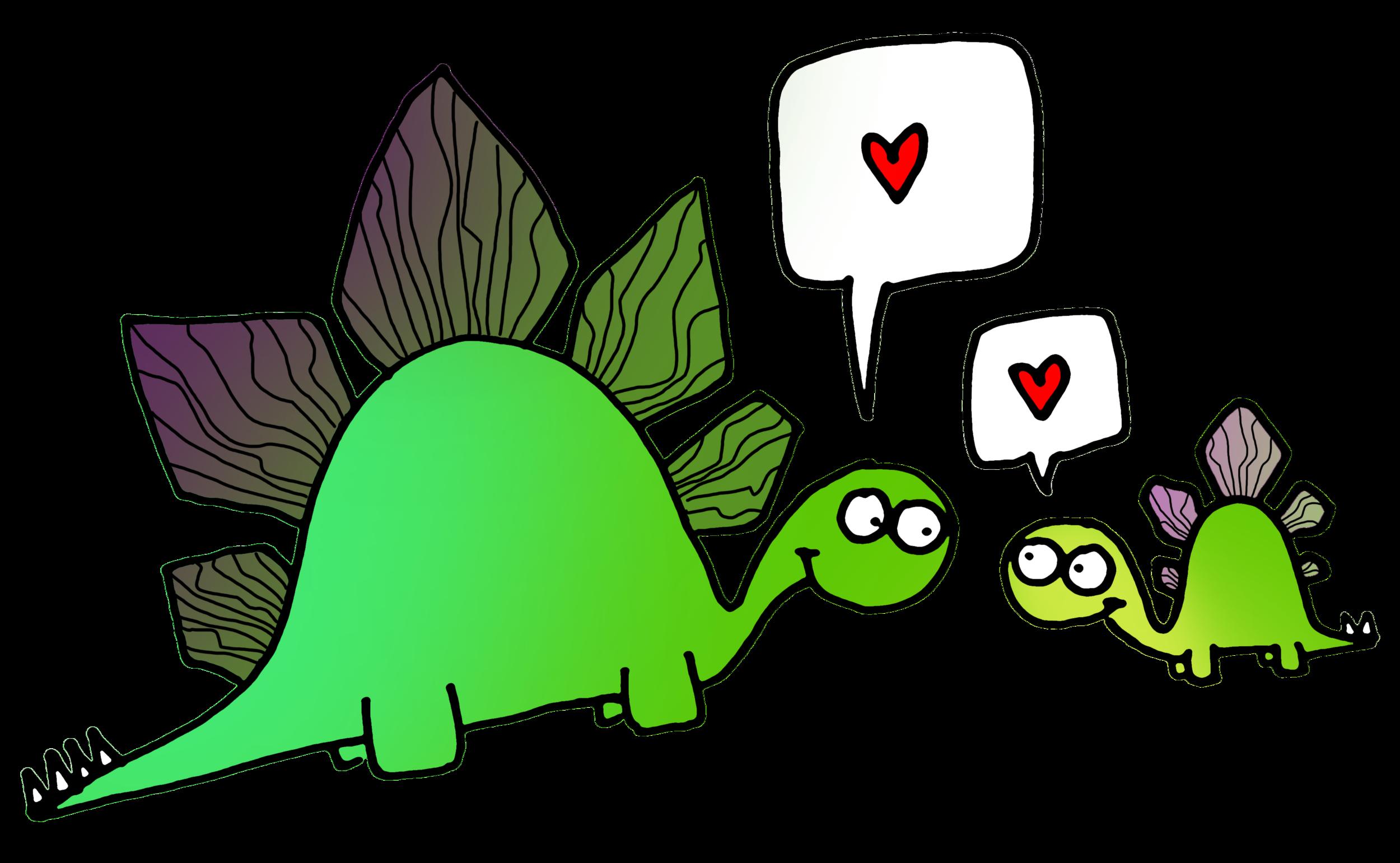 stegosaurs love their babies