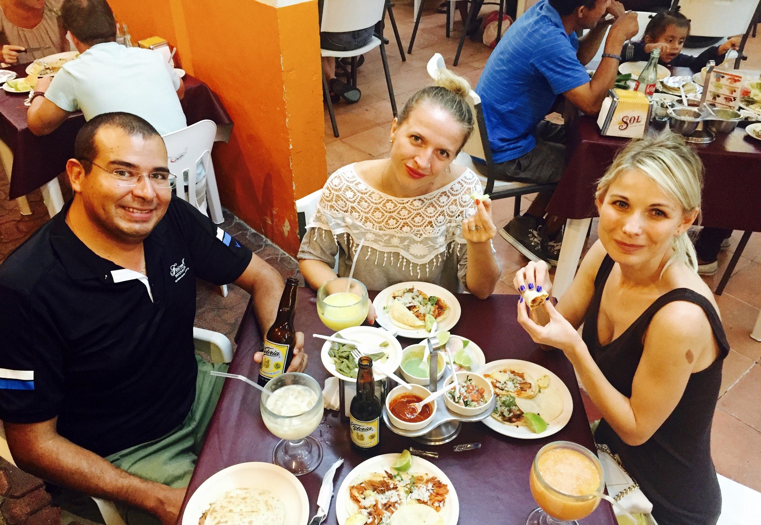 Playa del Carmen vietiniame restoranėlyje