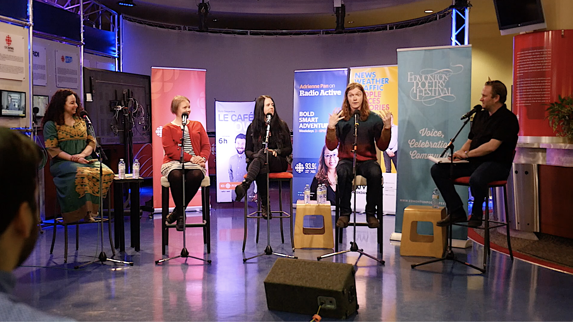 CBC Centre Stage at the Edmonton Poetry Festival, 2019.