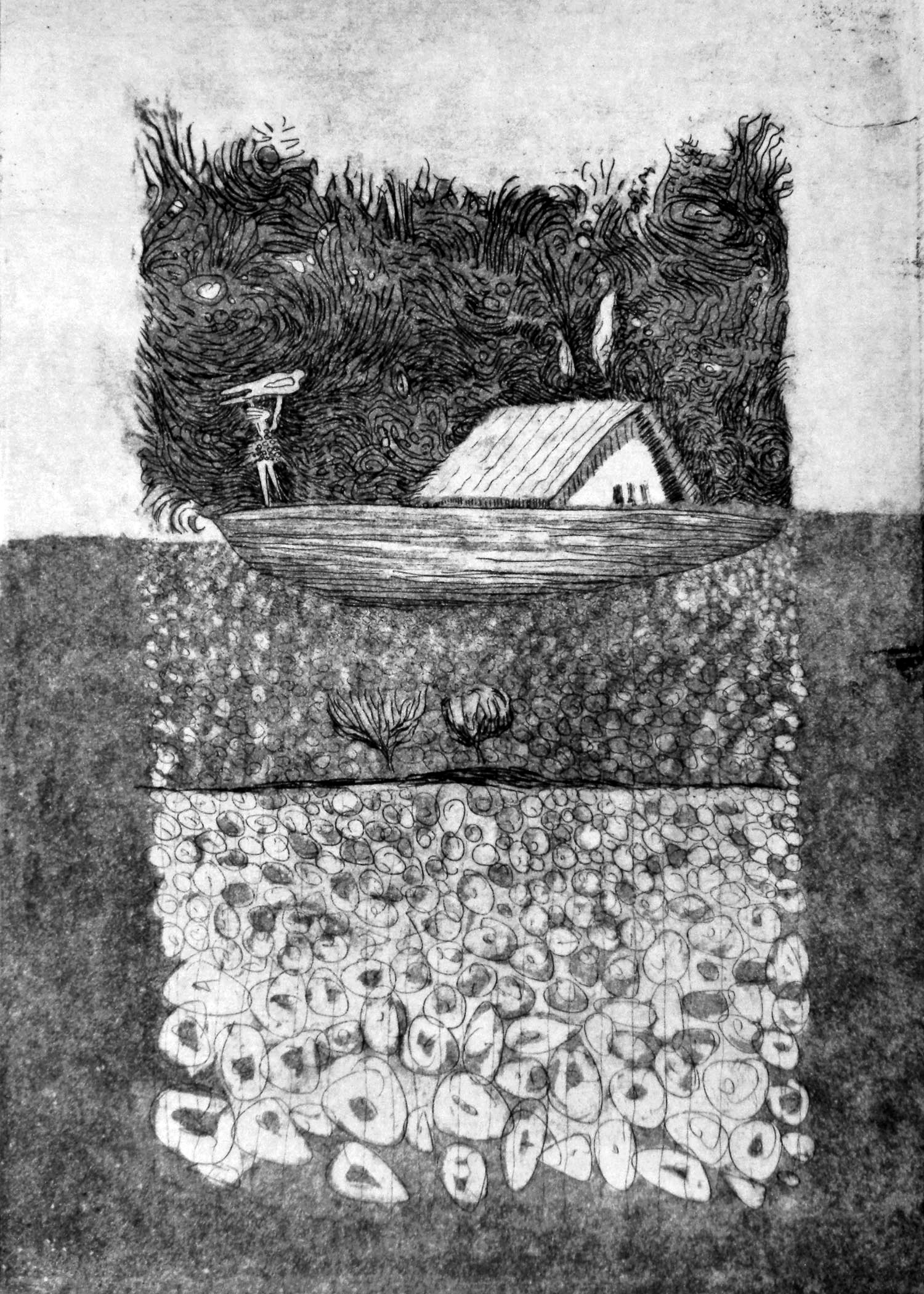 Carrying You Home etching