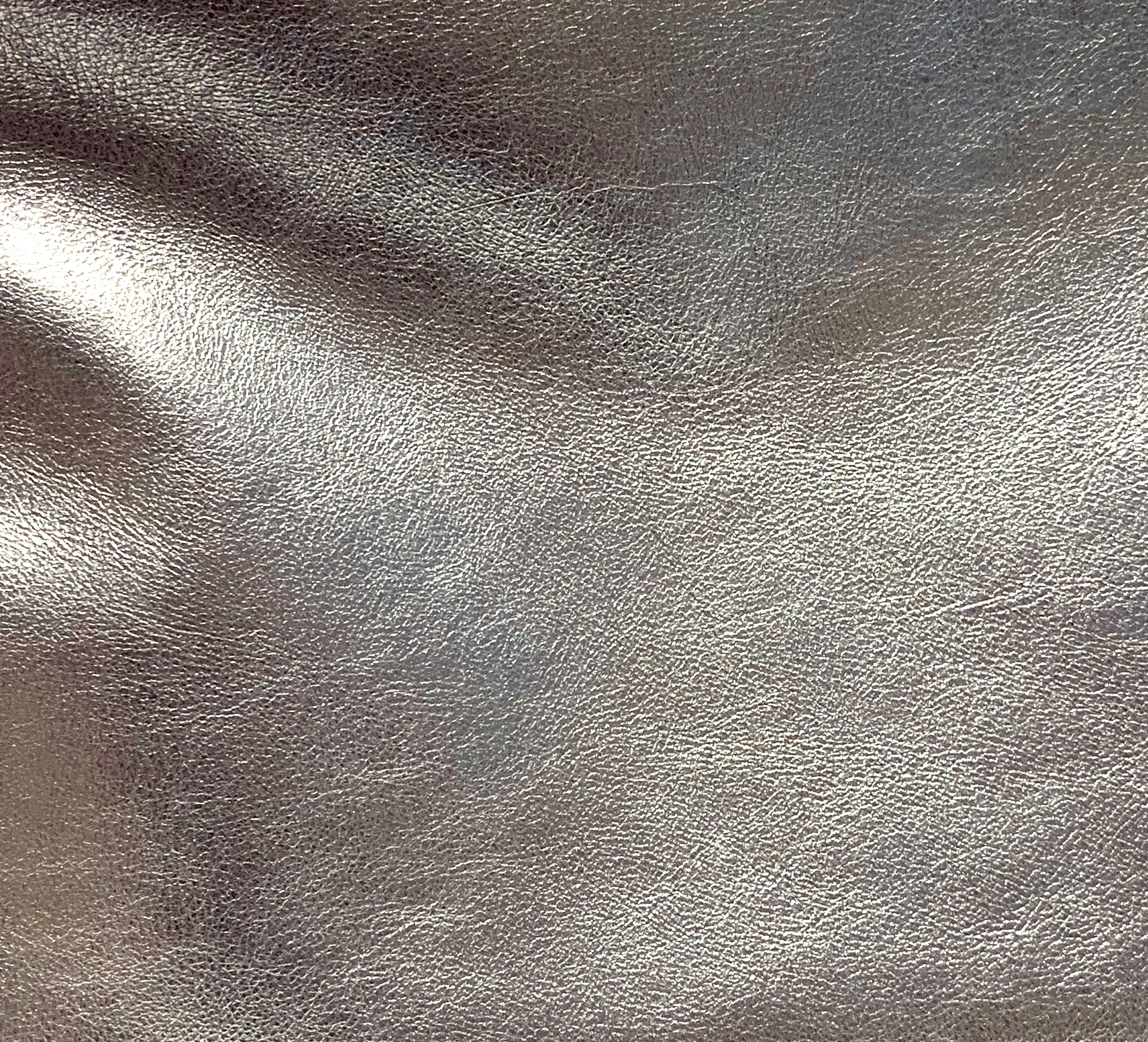 METALLIC PEWTER LEATHER