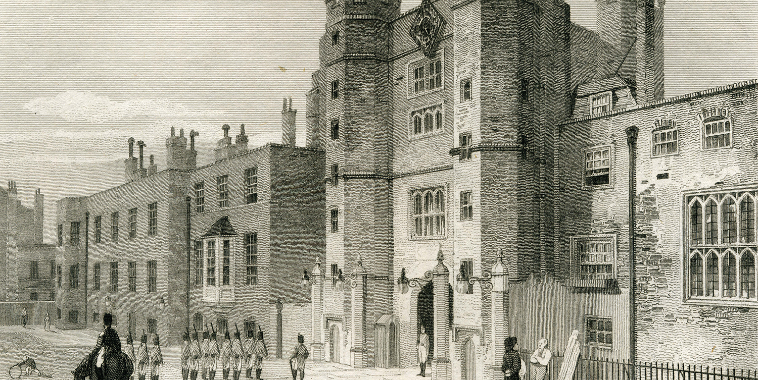 Westminster: St. James's Palace  (with Purcell)   Artist: Unknown