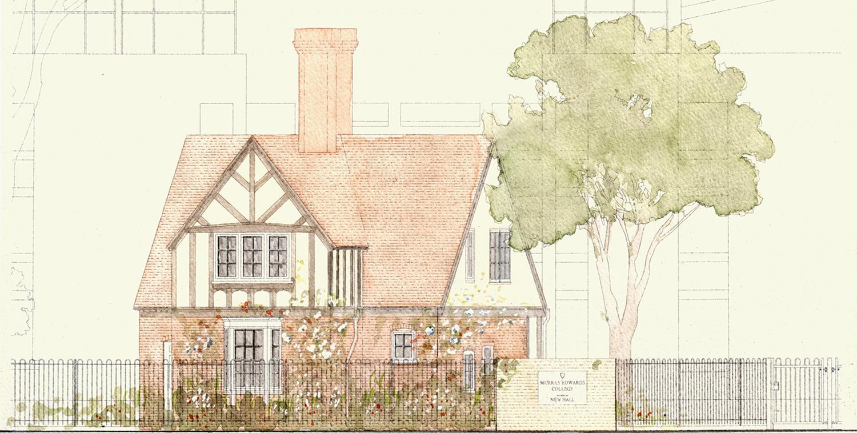 Cambridge: Grove Lodge at Murray Edwards College  Illustrator: Paul Vonberg