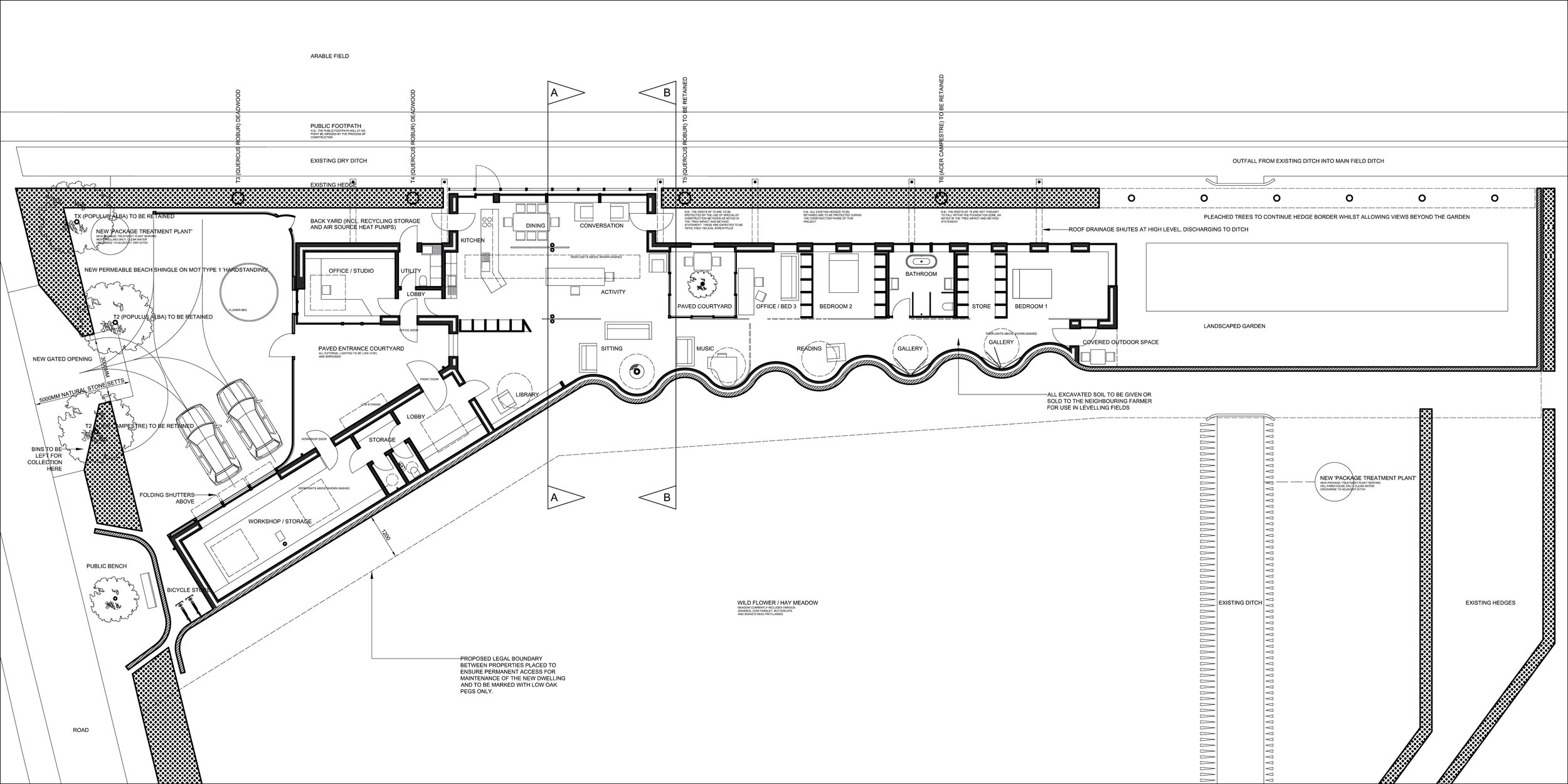 Monewden, Suffolk: Proposed Dwelling, Plan