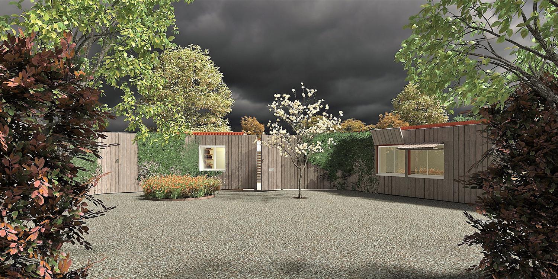 Monewden, Suffolk: Proposed Dwelling, Entrance