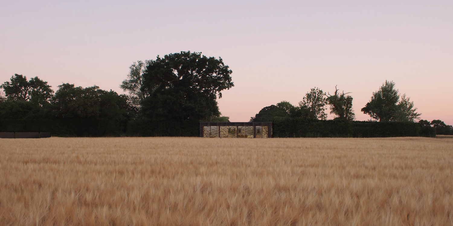 Monewden, Suffolk: Proposed Dwelling, view South