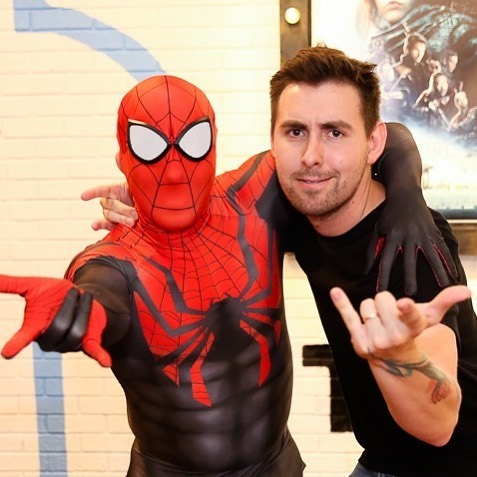 Me and my best friend, spider man... can't wait for this Sunday at @bethanytv & @bethany_kids for AT THE MOVIES!