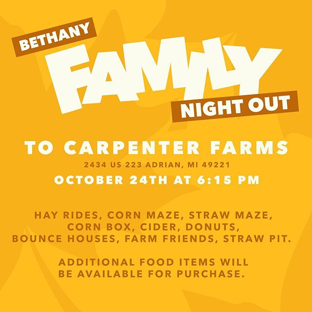 Family night out! A free family event this Thursday!