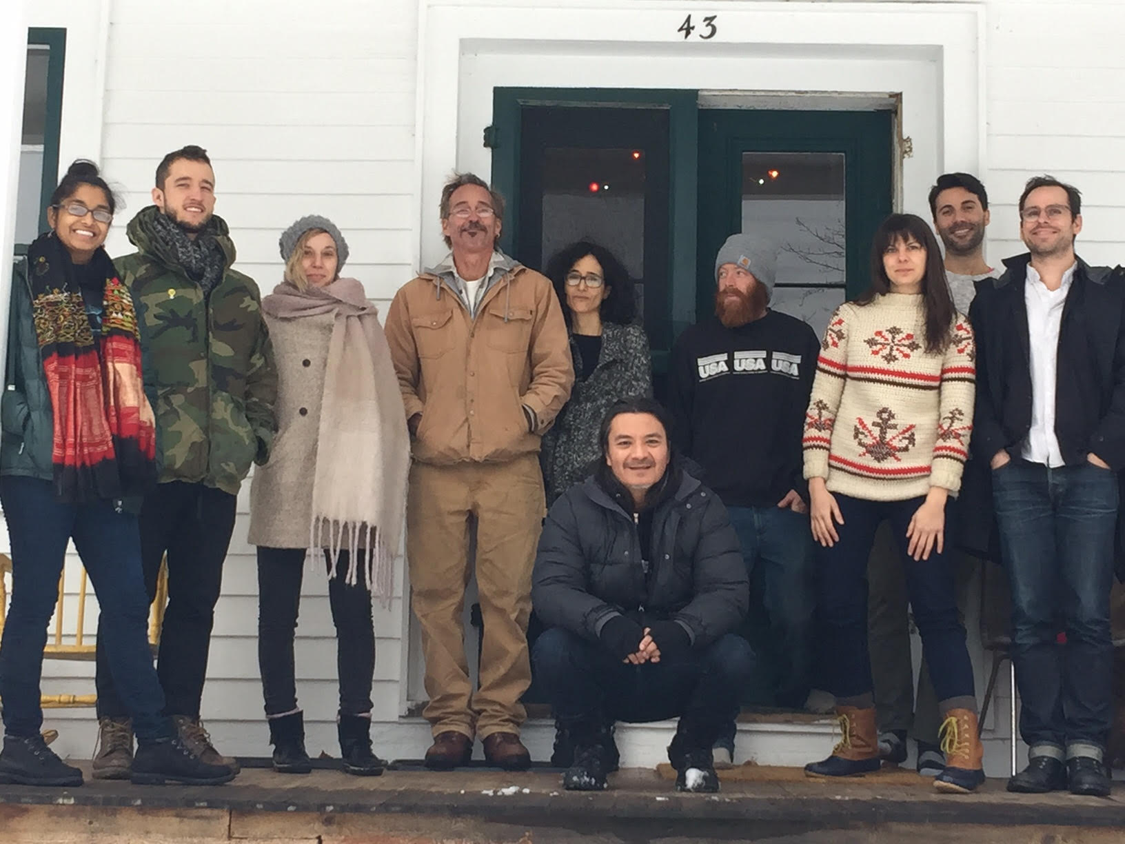 2016 fall term fellows at Denniston Hill Artist Residency retreat.