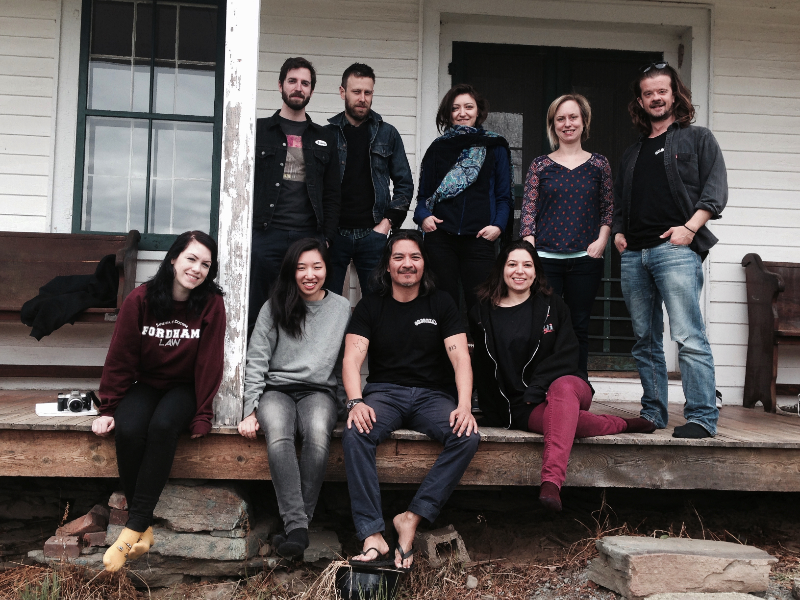2015 fellows at Denniston Hill Artist Residency retreat.