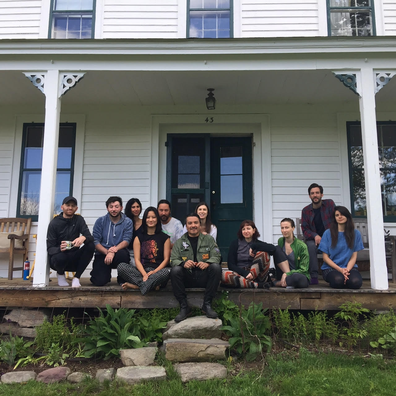 The 2017 Art & Law fellows and friends, during our usual end-of-term retreat at Denniston Hill, NY.