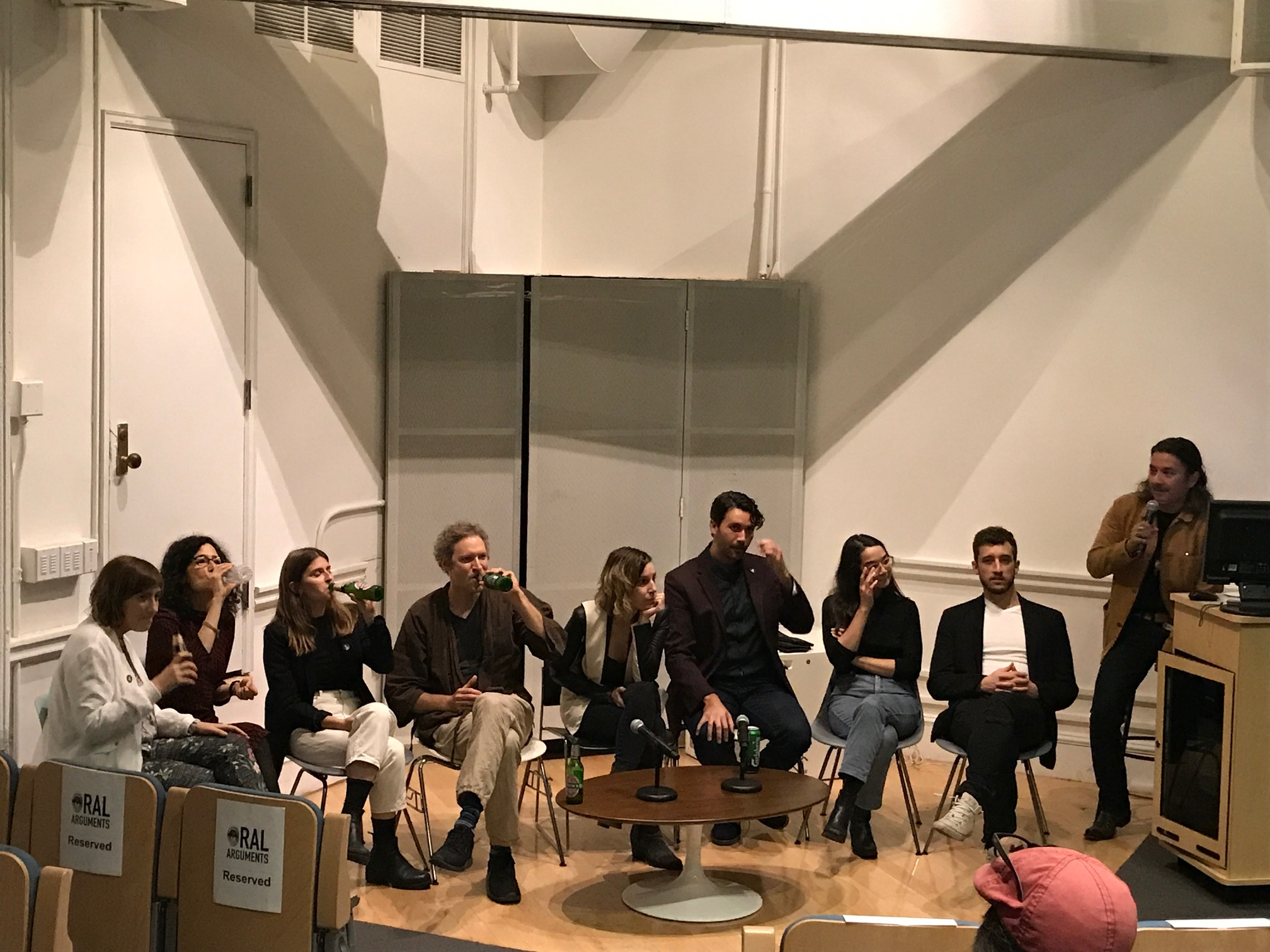 The very first Oral Arguments took place at NYU on October 28, 2017. Volume I consisted of eight presenters, all alumni of The Art & Law Program. The presenters were: Thomas Beale, Abram Coetsee, Terike Haapoja, Nicole Belangeil Kaack, Kenneth Pietrobono, Susan Rosenberg, Vered Snear, and Alex Strada.
