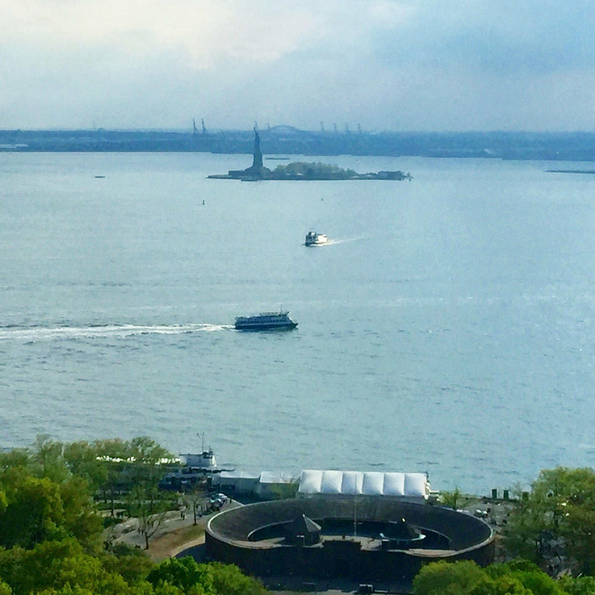 The view from our seminar room at Cornell University's Art Architecture Planning space in Battery Park, NYC. Not a bad place to ponder the many faces of art and law (May 7, 2018).