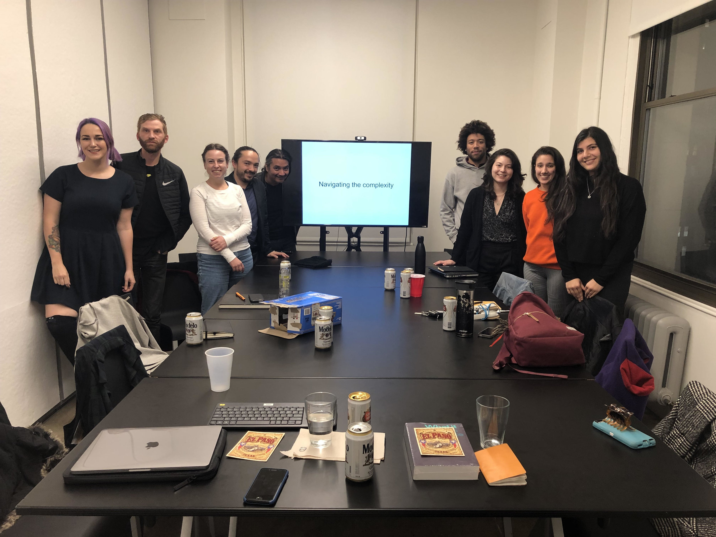 Art & Law Program fellows for the fall 2018 term. Photo taken at Cornell AAP space in lower Manhattan. Missing is Katya Grokhovsky (Dec. 2018).