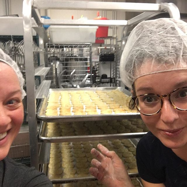 This week feels more like a sprint than a marathon. Totaling in at 8700 pieces of buttercrunch, 1600+ pie crust cookies 500+ assorted cookies, multiple other treats a popup, going from the only everything to 2 full time employees and 5 part time, presenting to Pepsi , selling to  kate spade new york, winning a Capital One and @Columbia  pitch competition and so so much more all in a week. Grateful for the journey, excited for December 24th. Couldn't have done it without @margotwhitewow 💜❤️💜