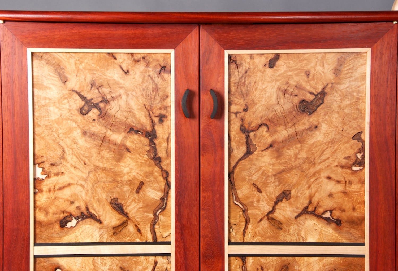 Maple Burl Cabinet