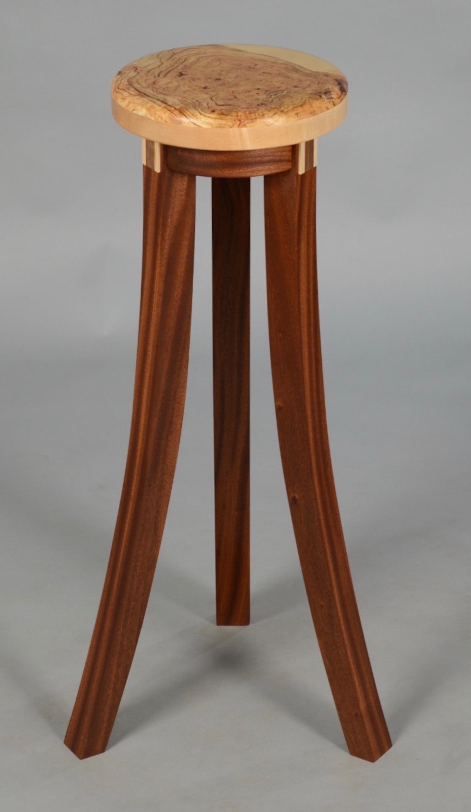Maple Burl Showcase Table