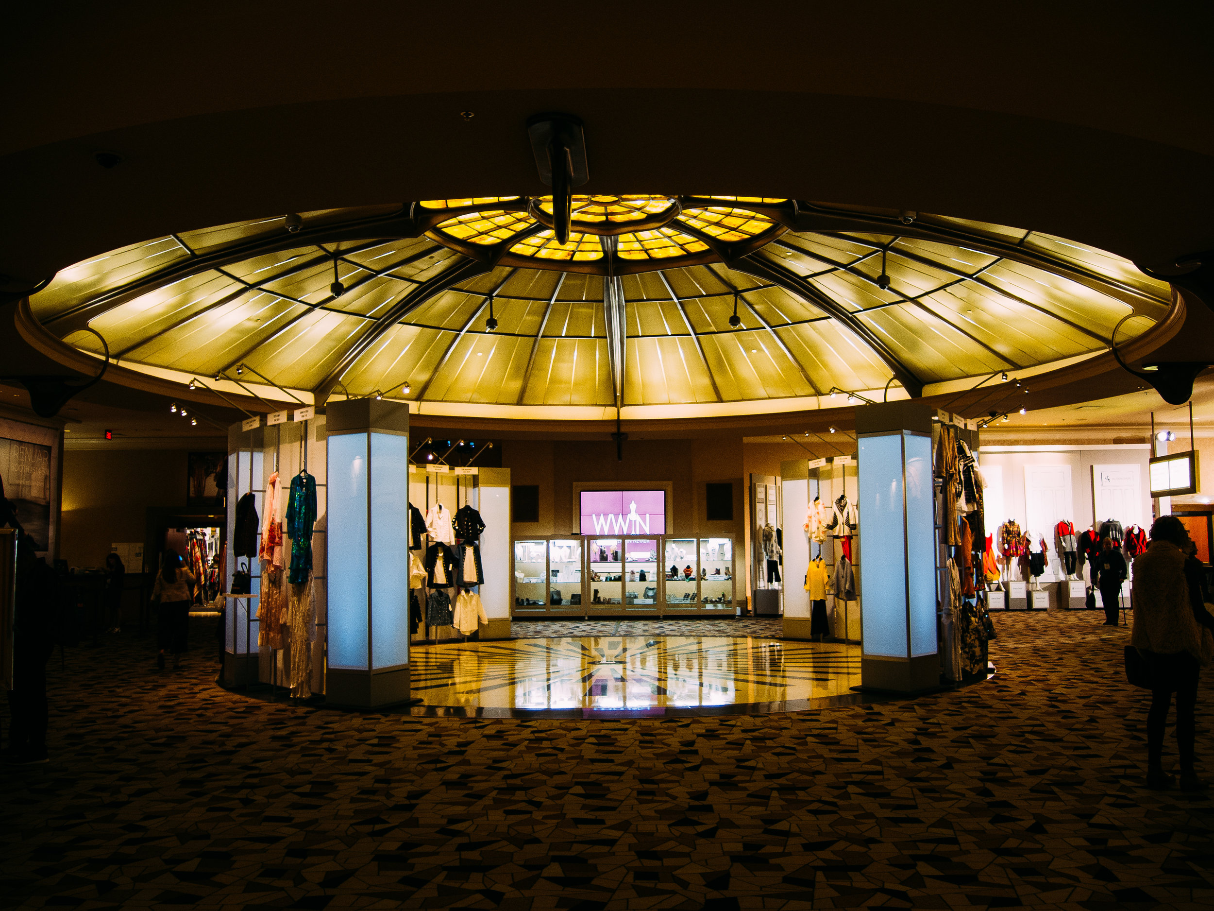 The entrance to WWIN fashion at Rio Hotel