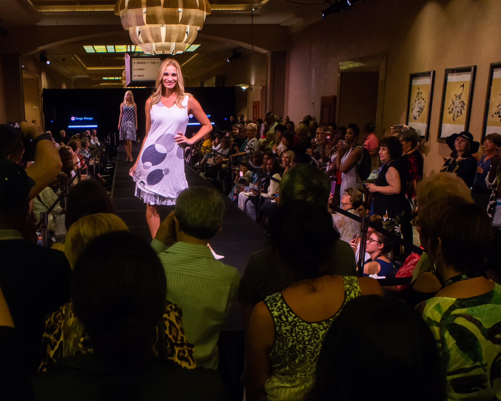We experienced a cool fashion show at the kick off of WWIN.
