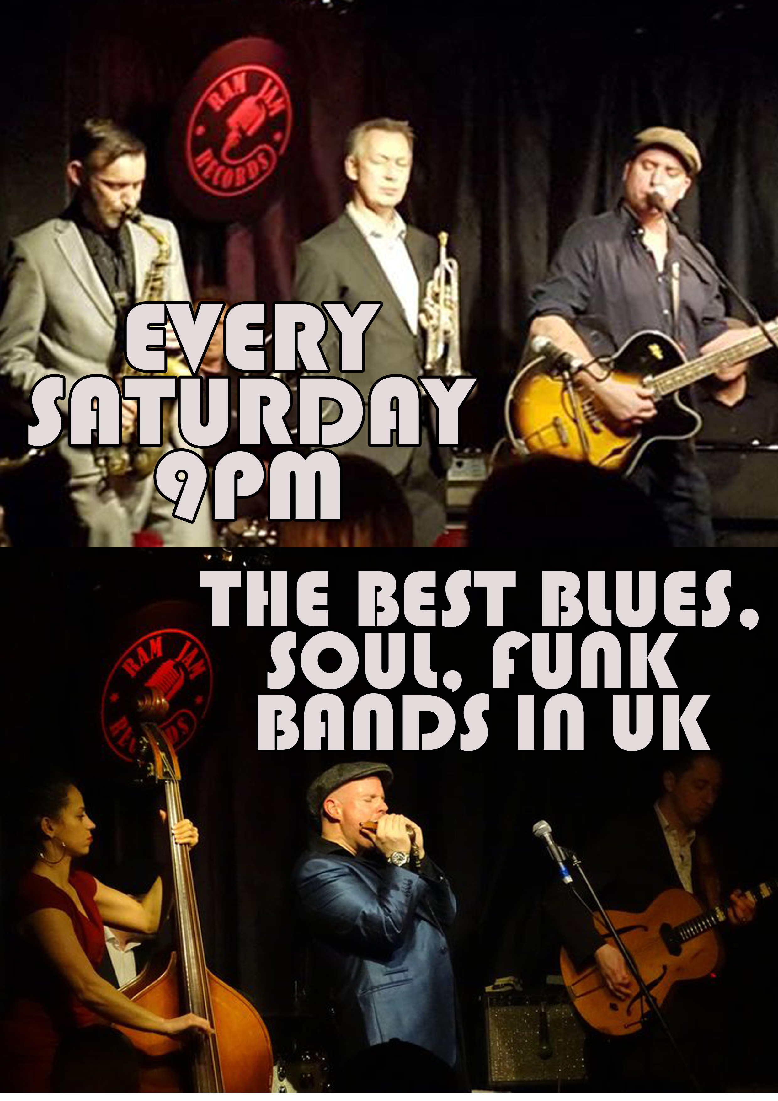 Ram Jam Records hosts live Blues, Soul & Funk 9PM every Saturday