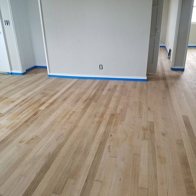 The floors at #mountainviewhousepdx are being refinished this weekend. I can't wait to see the finished result! This is pre-stain. These floors were horrible before!!! #makeroomtolive #livingroomrealty #portlandrealestate #wheresyourlivingroom