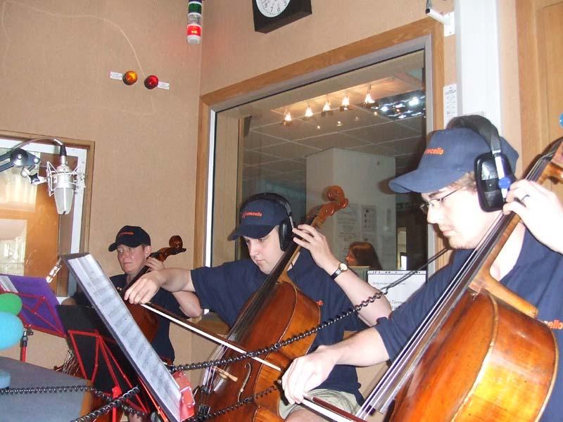Playing at Radio Cornwall