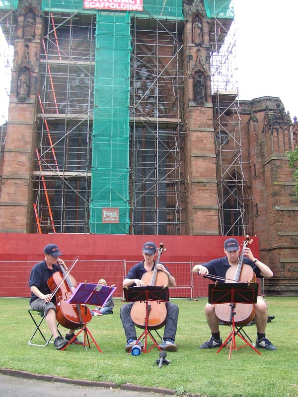 Outside Carlisle Cathedral