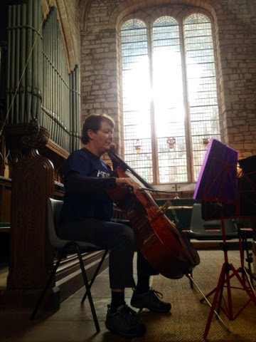 Playing at Lanercost Priory
