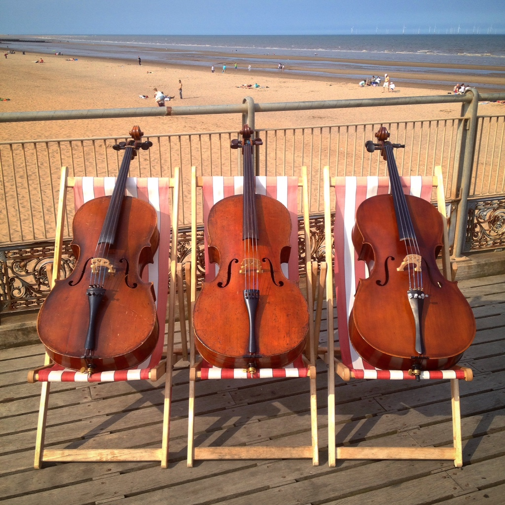 Cellos need to relax too, sometimes!