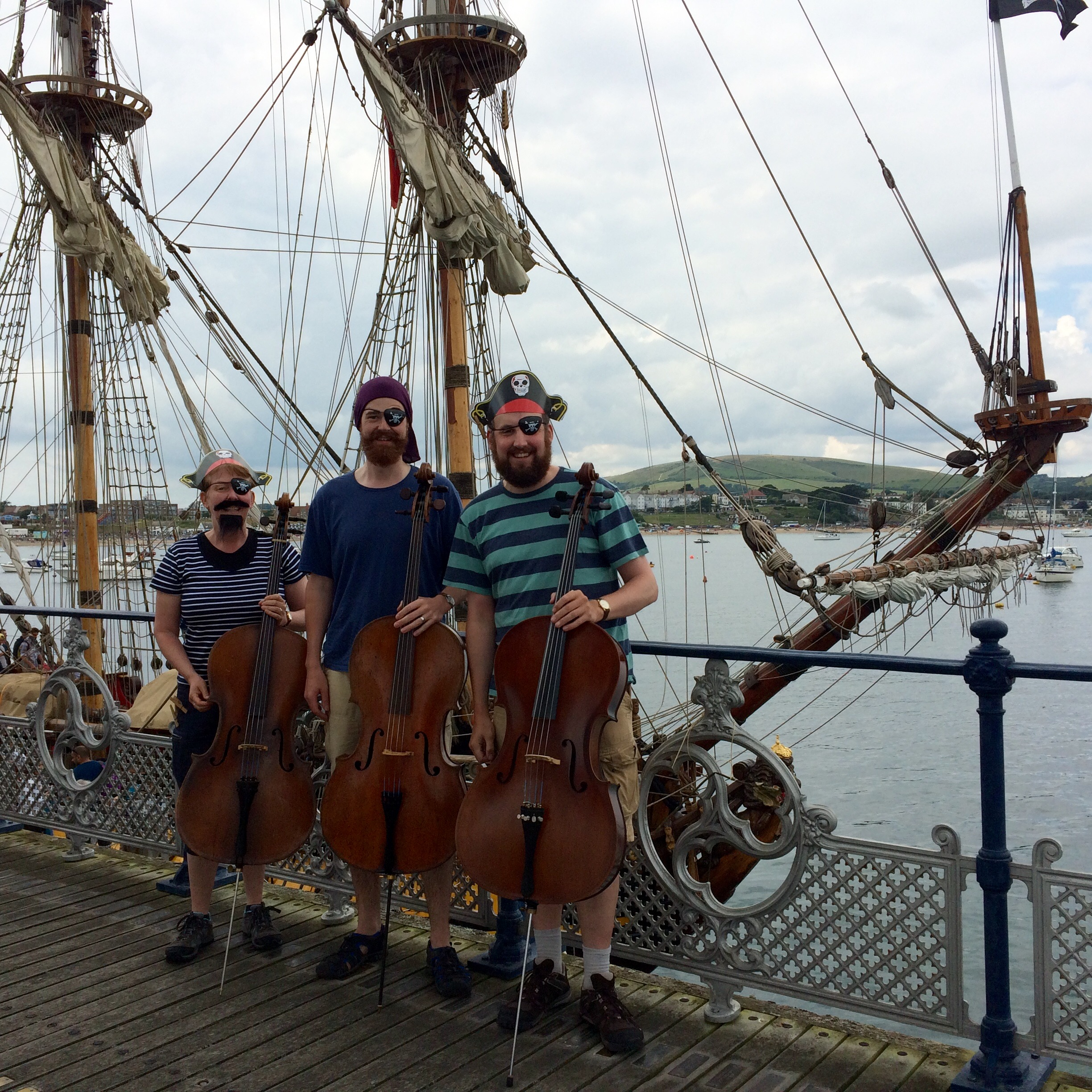 As Pirates on Swanage Pier