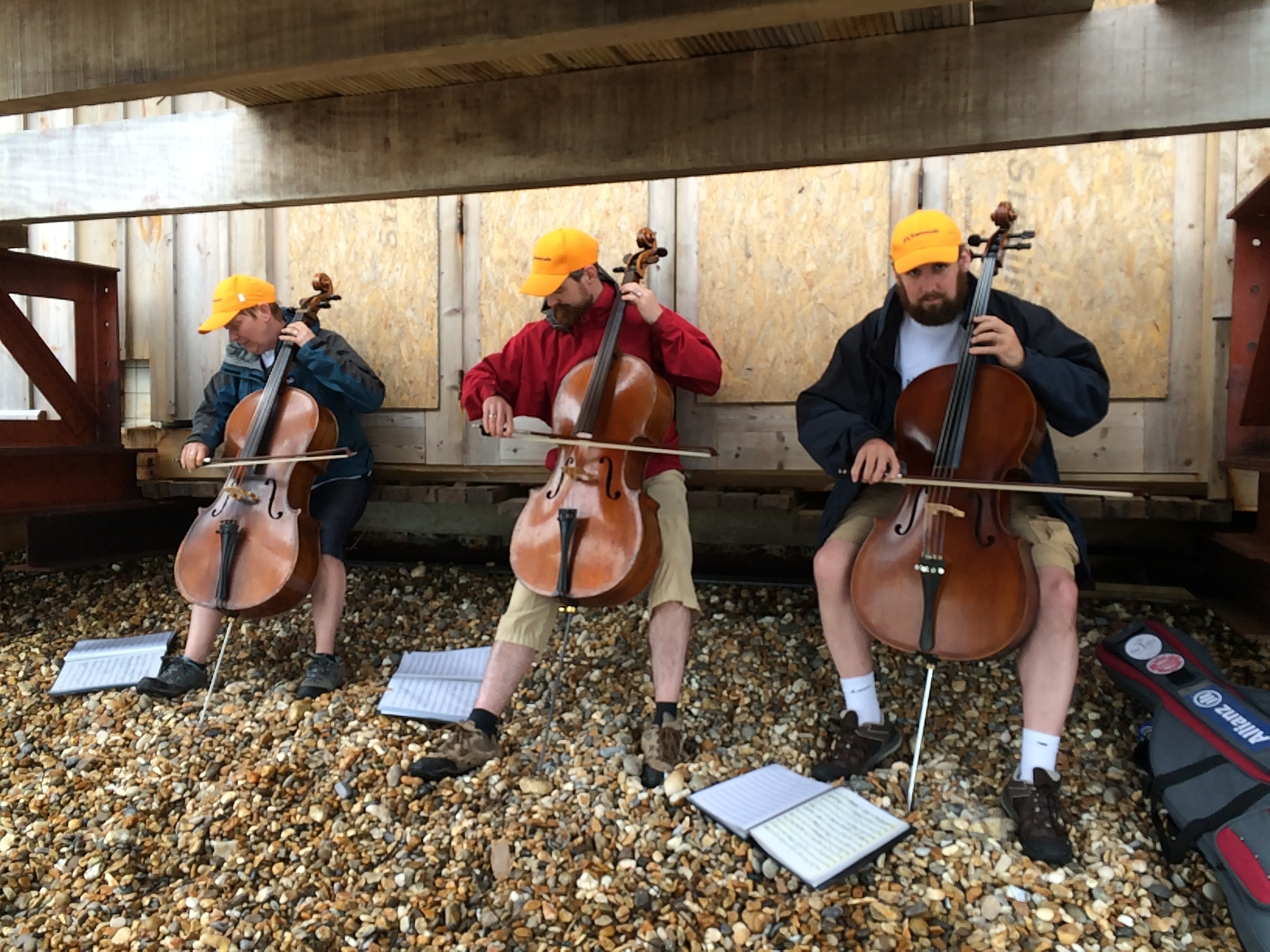 Playing under Totland Bay pier