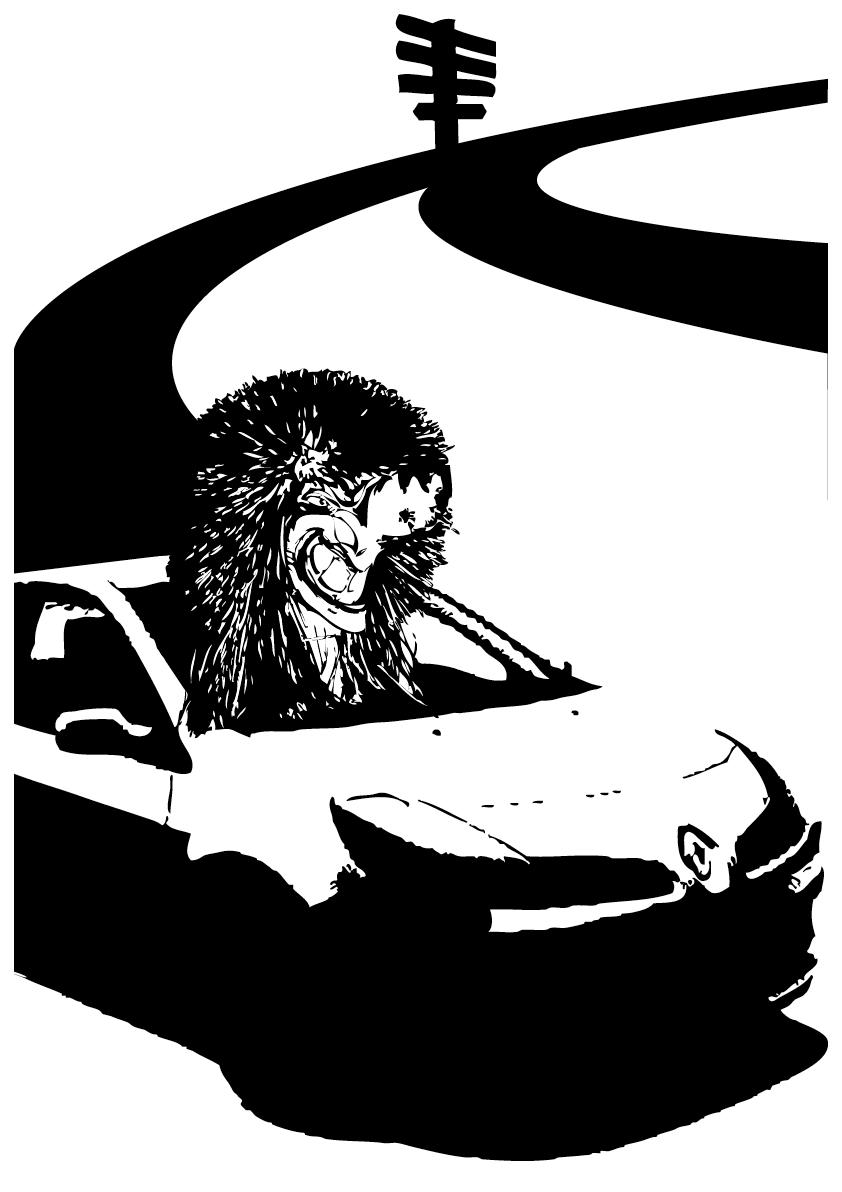 """In Basel shoppe will dr Thierry, dä vo Michelbach-le-Haut,   Mit sym Renault faart är falsch und isch ins Gundeli nur koo.   Dört isch grad Gratis-Speerguet und das isch im Thierry no so rächt,   Und meint deheim zur Frau: """"Das Stücki Center isch nit schlächt."""""""