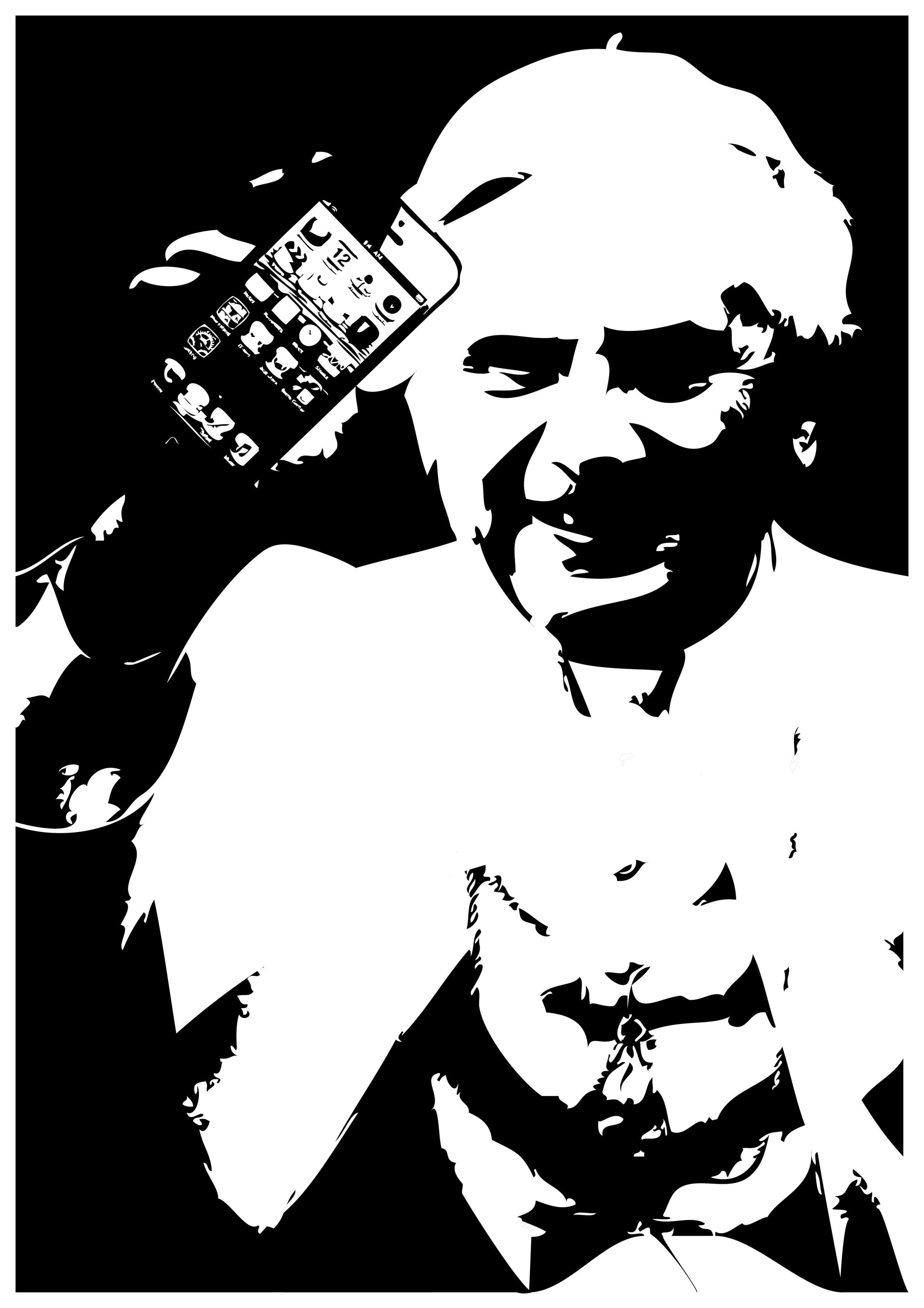 Zum Abschiid het dr Benedikt an syni Follower au dänggt,   Und het grad allne syne Bischöff sone wisses iPhone gschänggt.   Die hänn e Riisefreud und leges als bim Bätte uff e Disch,   Wells zum stryychle gletter als e Buebefuudi isch.