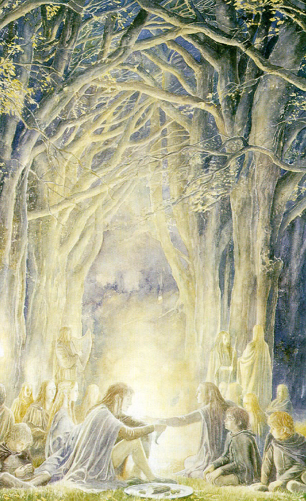 Warmth, firelight and solace: Another Alan Lee Illustration