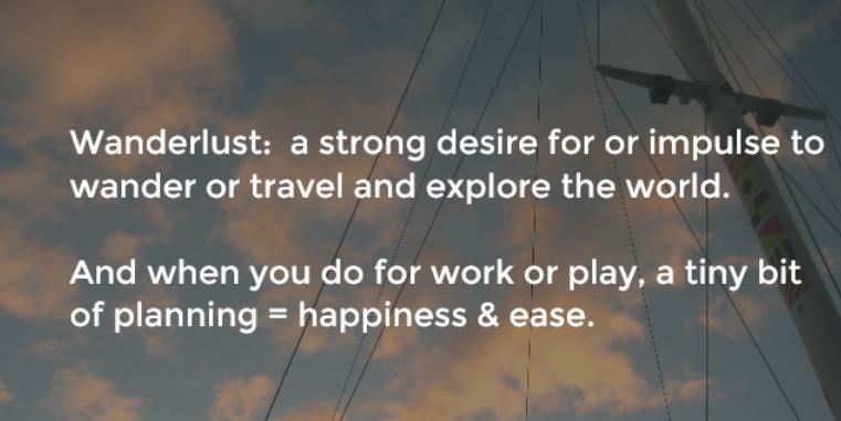 Wanderlust: follow your impulse