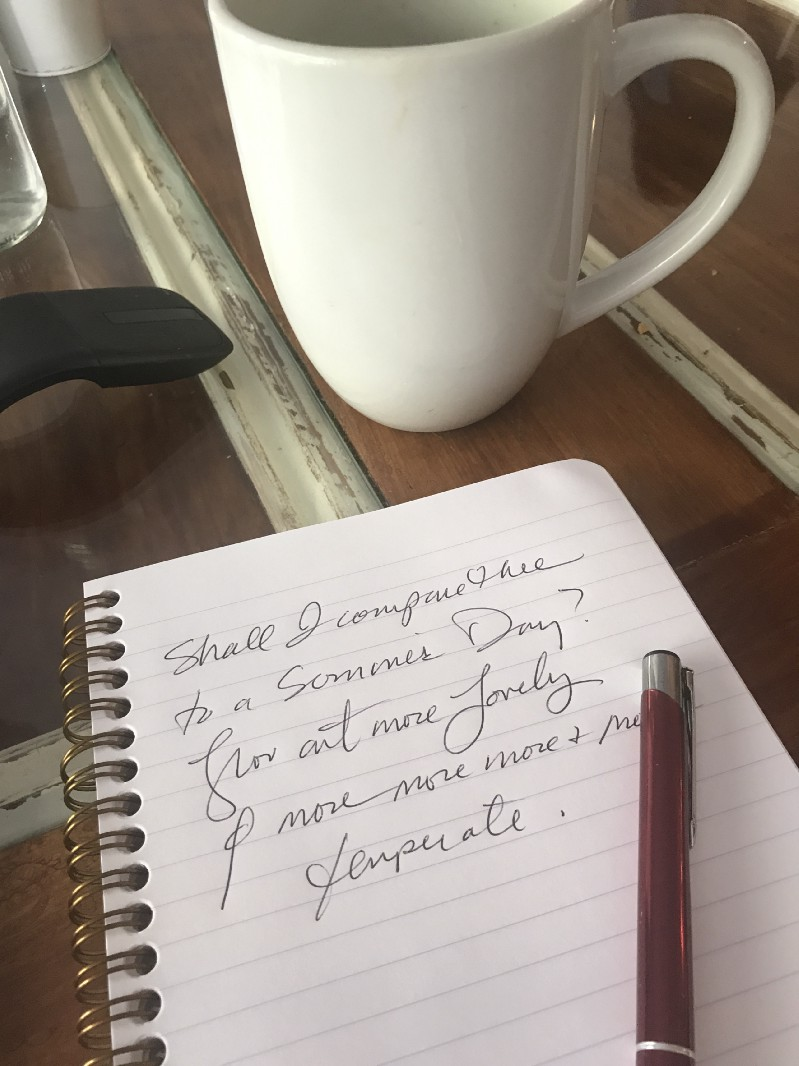 write it out it feels good, what is your favorite poem?
