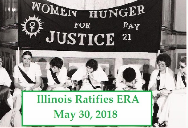Women Hunger for Justice, May 1982, State of Illinois Capitol Building, photo Zoe Nicholson