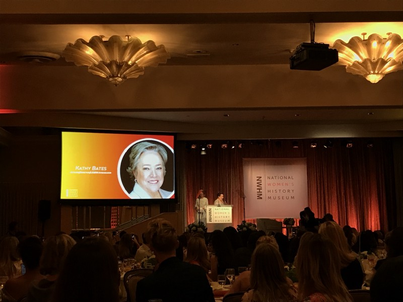 Kathy Bates, receiving her award from dear friend and AHS co-star Sarah Paulson